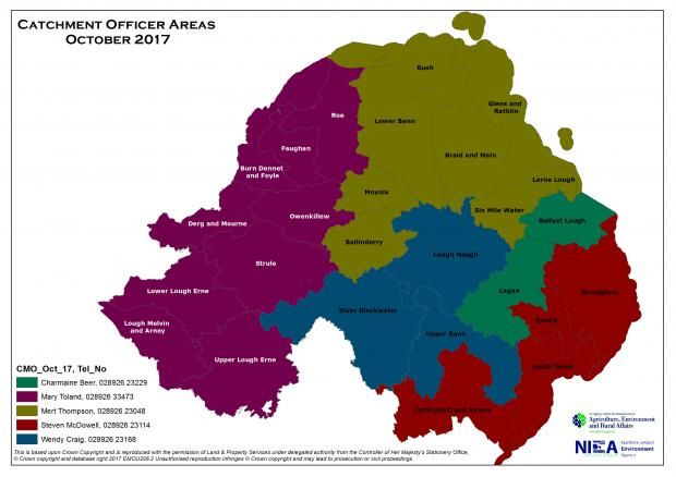 Catchment Officer Management Areas 2017