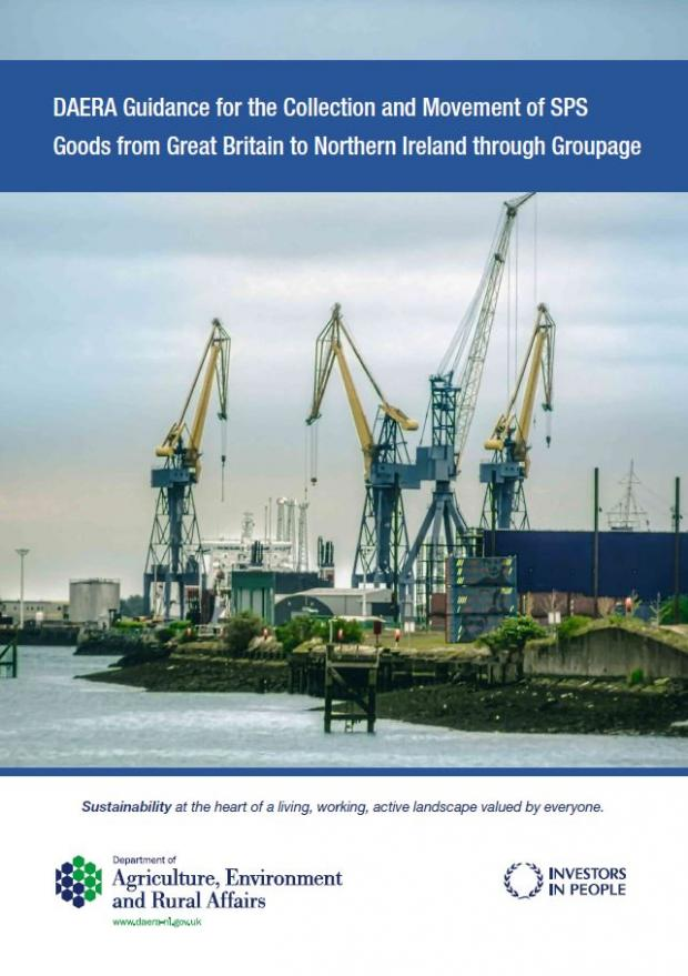 Cover image of DAERA Guidance for the Collection and Movement of SPS Goods from Great Britain to Northern Ireland through Groupage