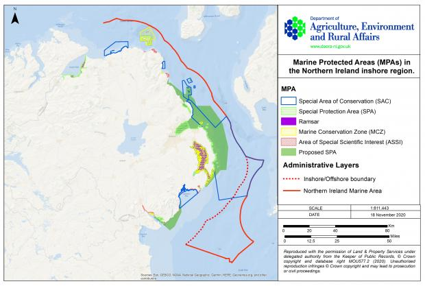 MPAs in the Northern Ireland inshore region