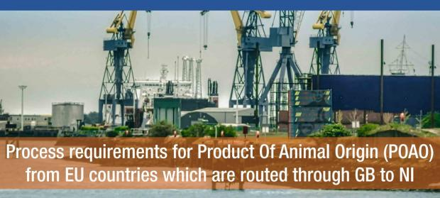 Process requirements for POAO from EU countries which are routed through GB to NI