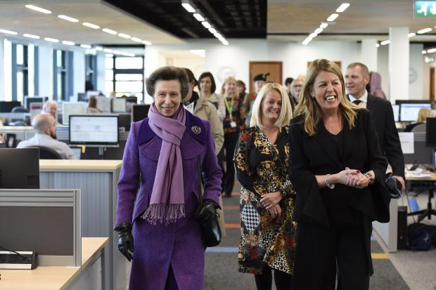 HRH The Princess Royal at Ballykelly House