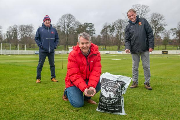 DAERA Minister Edwin Poots MLA pictured at Lisburn Cricket Club