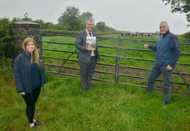 DAERA Minister Edwin Poots MLA pictured with Veronica Morris, Chief Executive Rural Support and John Thompson, Chair Rural Support.