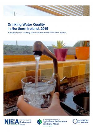 Cover of the Drinking Water Quality 2015 annual report